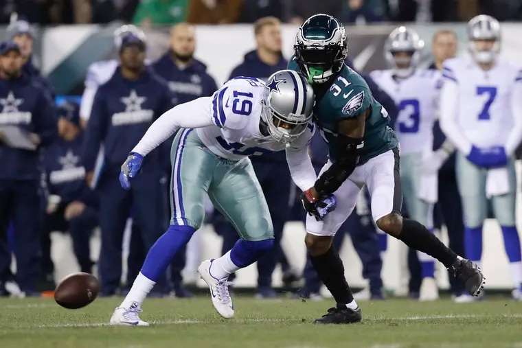 Cowboys wide receiver Amari Cooper (19) is a guy the Eagles need to stay away from in free agency if he's available, Joe Banner said.
