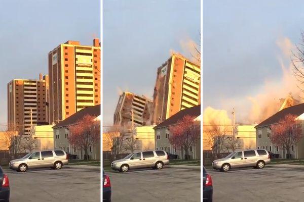 Blumberg towers come tumbling down, raising memories of horror and home
