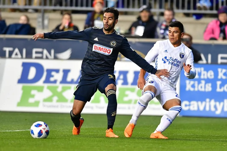 After starting the season with some hype, Drexel Hill native Matt Real (left) ended up playing just four times for the Union in 2018.