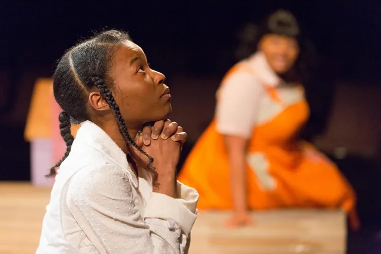 """Jasmine Ward as Pecola in """"The Bluest Eye,"""" through April 1 at Arden Theatre Company."""