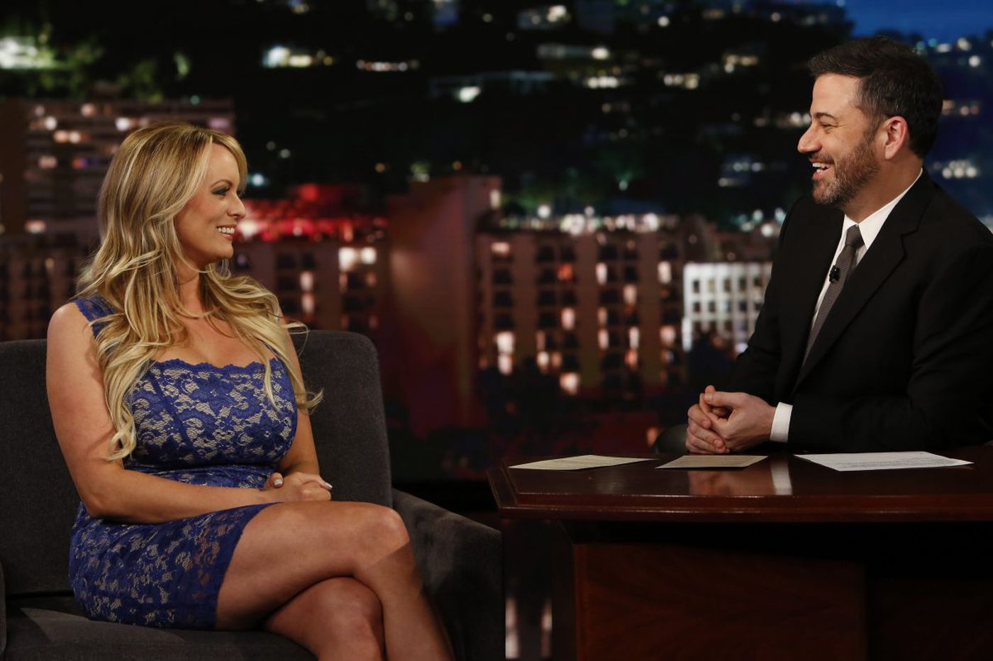 Amid publicity tour, Stormy Daniels denies affair with Trump