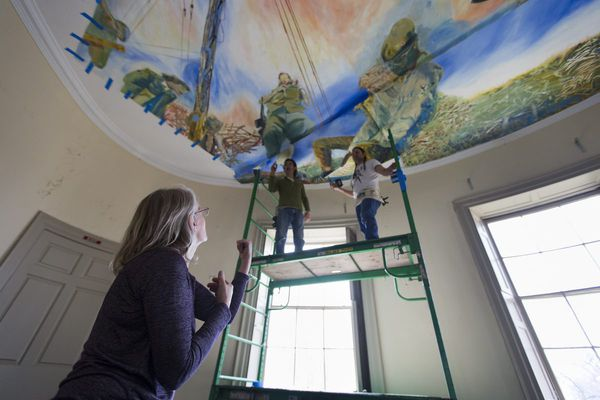 Lemon Hill mansion becomes an image of resistance in daring art takeover