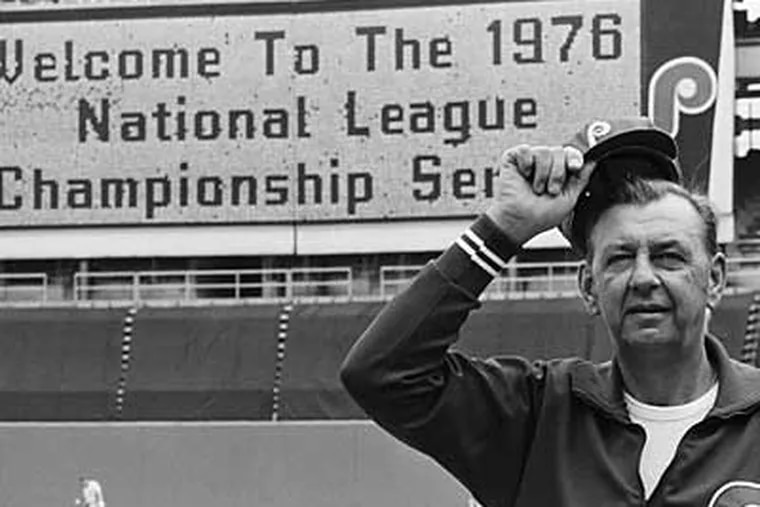 Former Phillies manager Danny Ozark died Thursday morning at the age of 85. (File photo)