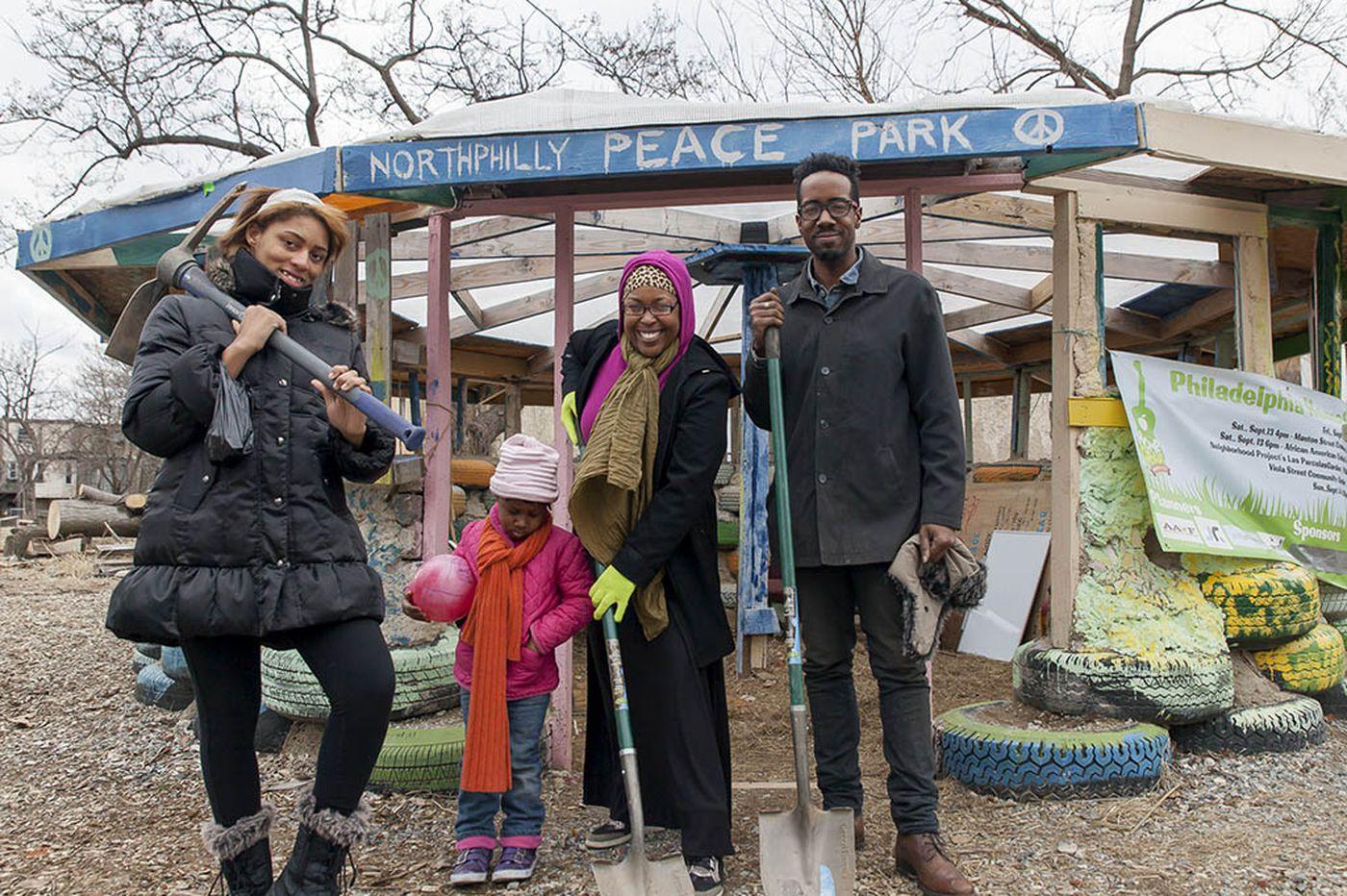City's progress and a small park create a clash