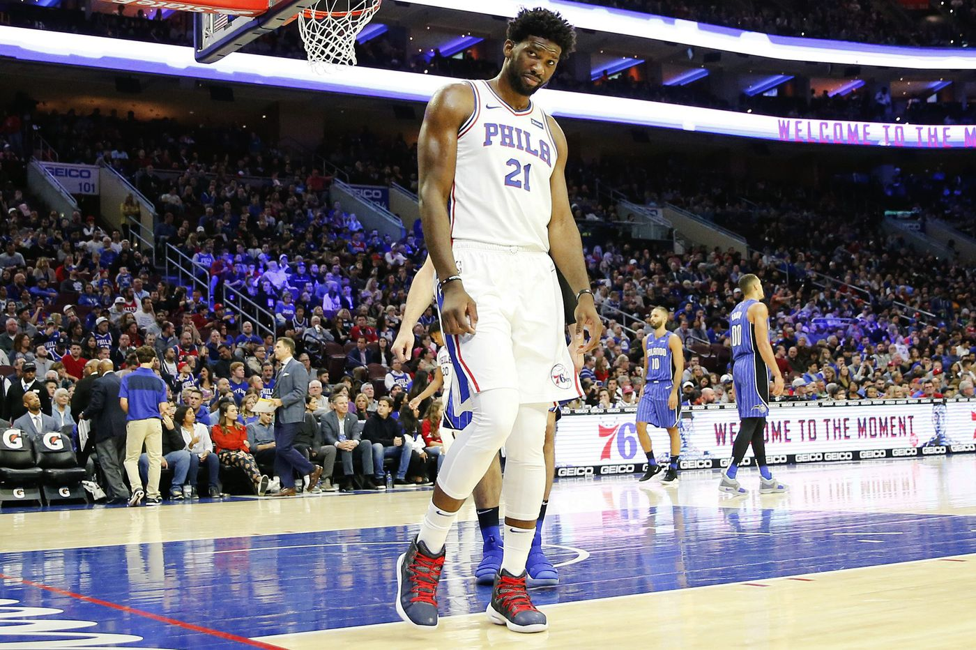Sixers  Joel Embiid will play against Charlotte Hornets despite rolling his  ankle in practice e0766a5bc