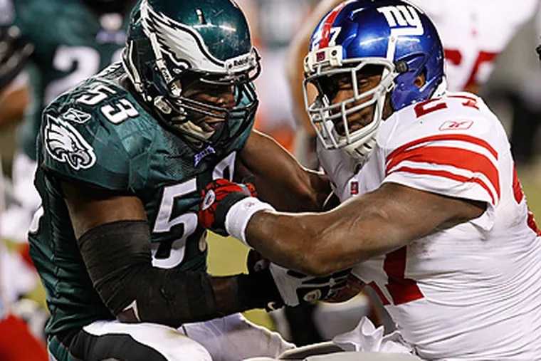 Giants running back Brandon Jacobs has seen an increase in carries since last seeing the Eagles. (Ron Cortes/Staff File Photo)