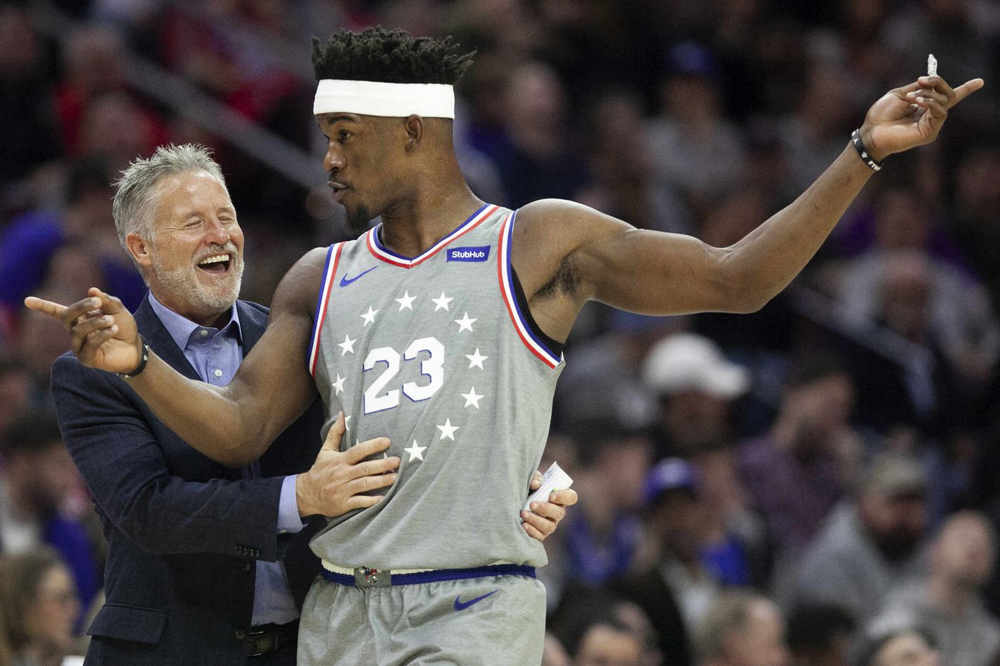 Sixers' Jimmy Butler and Brett Brown say there's no friction between them