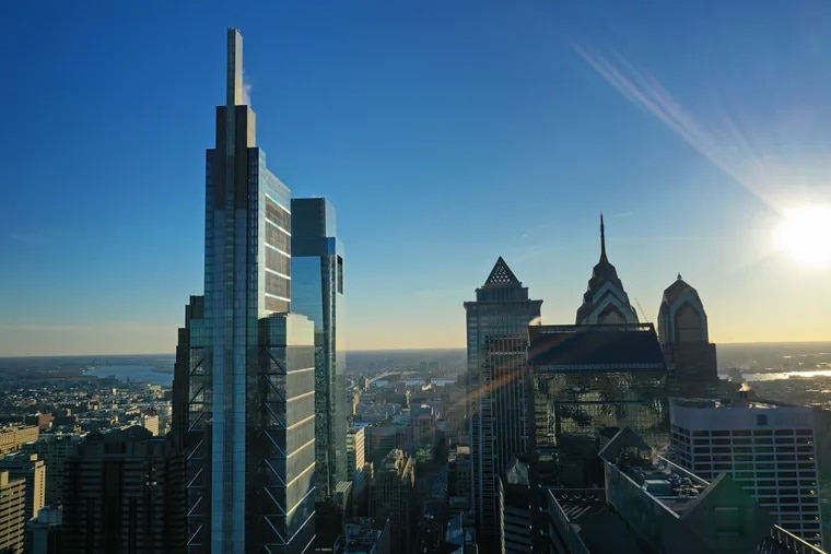 The Comcast Technology Center, with a height of 1,121 feet, is the newest skyscraper in Philadelphia, PA. January 11, 2019