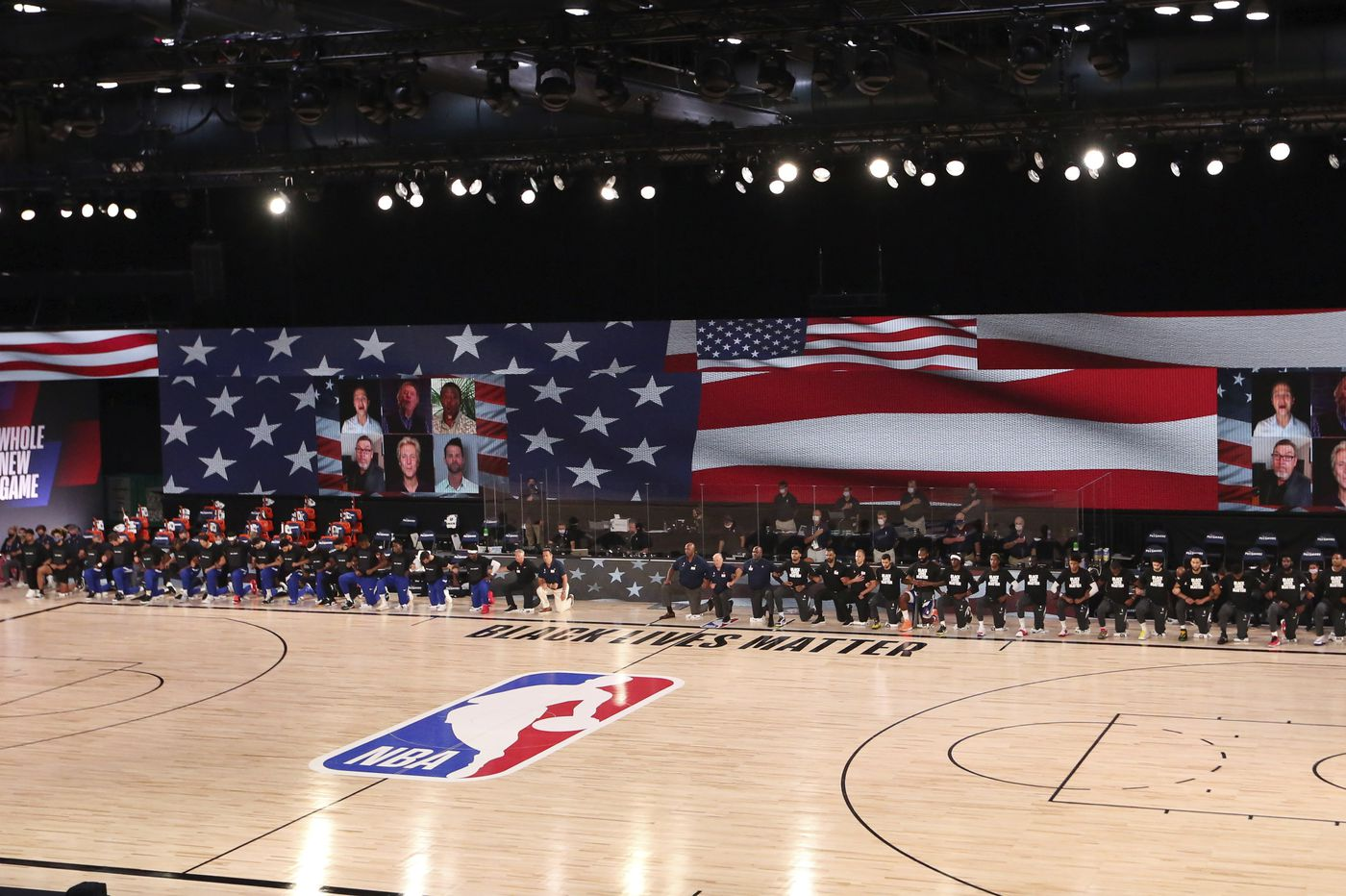 Sixers Pacers Kneel During National Anthem As Teams Across Nba Have