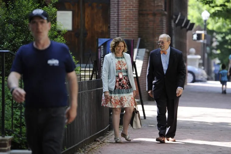Lancaster City Mayor Richard Gary, right, and Lancaster Director of Public Works Charlotte Katzenmoyer opposed a plan to put dozens of small cell poles in Lancaster's historic areas.