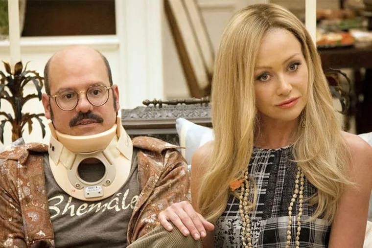 "David Cross, left, and Portia de Rossi in the resurrected ""Arrested Development"" on Netflix."