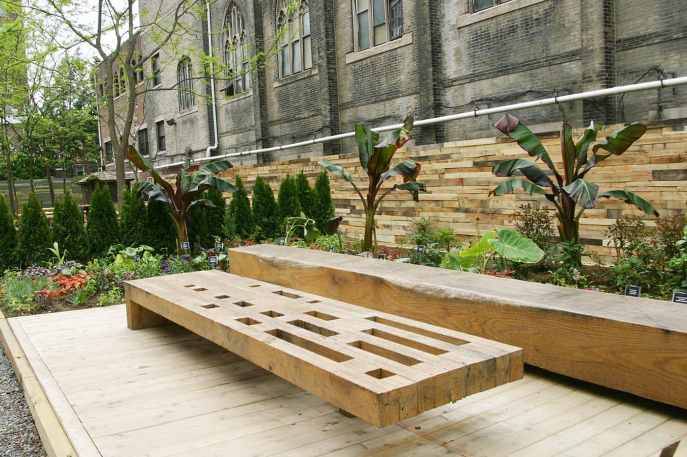 Pop-up garden opens on Avenue of the Arts