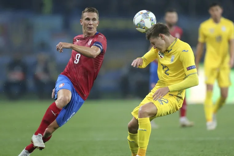 Union midfielder Borek Dockal (left) captained the Czech Republic national team in its UEFA Nations League games at Slovakia and Ukraine.
