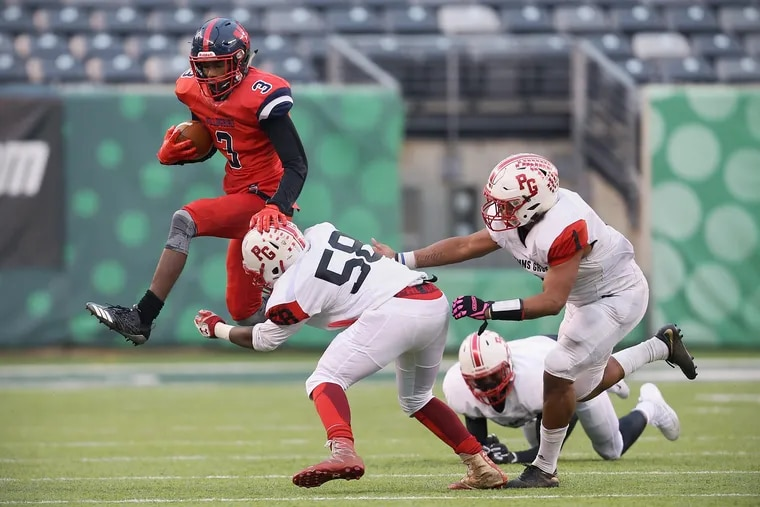 Willingboro's Chris Long (3), shown here in last year's loss in the South/Central Group 1 Bowl Game vs. Penns Grove, helped the Chimeras turned the tables in the Red Devils in this year's regional title game.