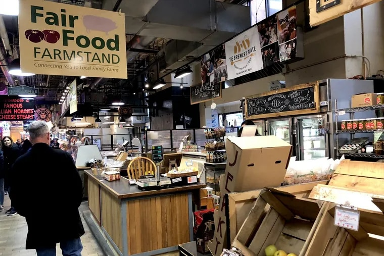 Fair Food Farmstand at Reading Terminal Market on April 3, 2018.