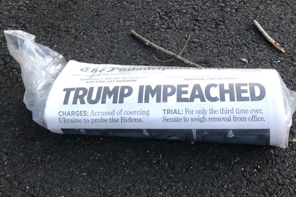 How newspaper front pages reported Donald Trump's impeachment