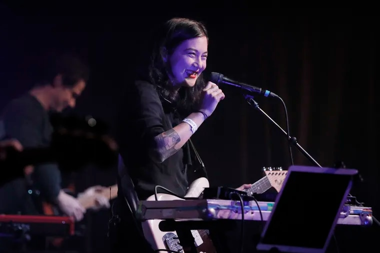 Michelle Zauner of Japanese Breakfast performs at the Ardmore Music Hall in 2020. She'll play five show to crowds that are required to show proof of vaccination or a negative COVID test at Union Transfer, starting on Friday.