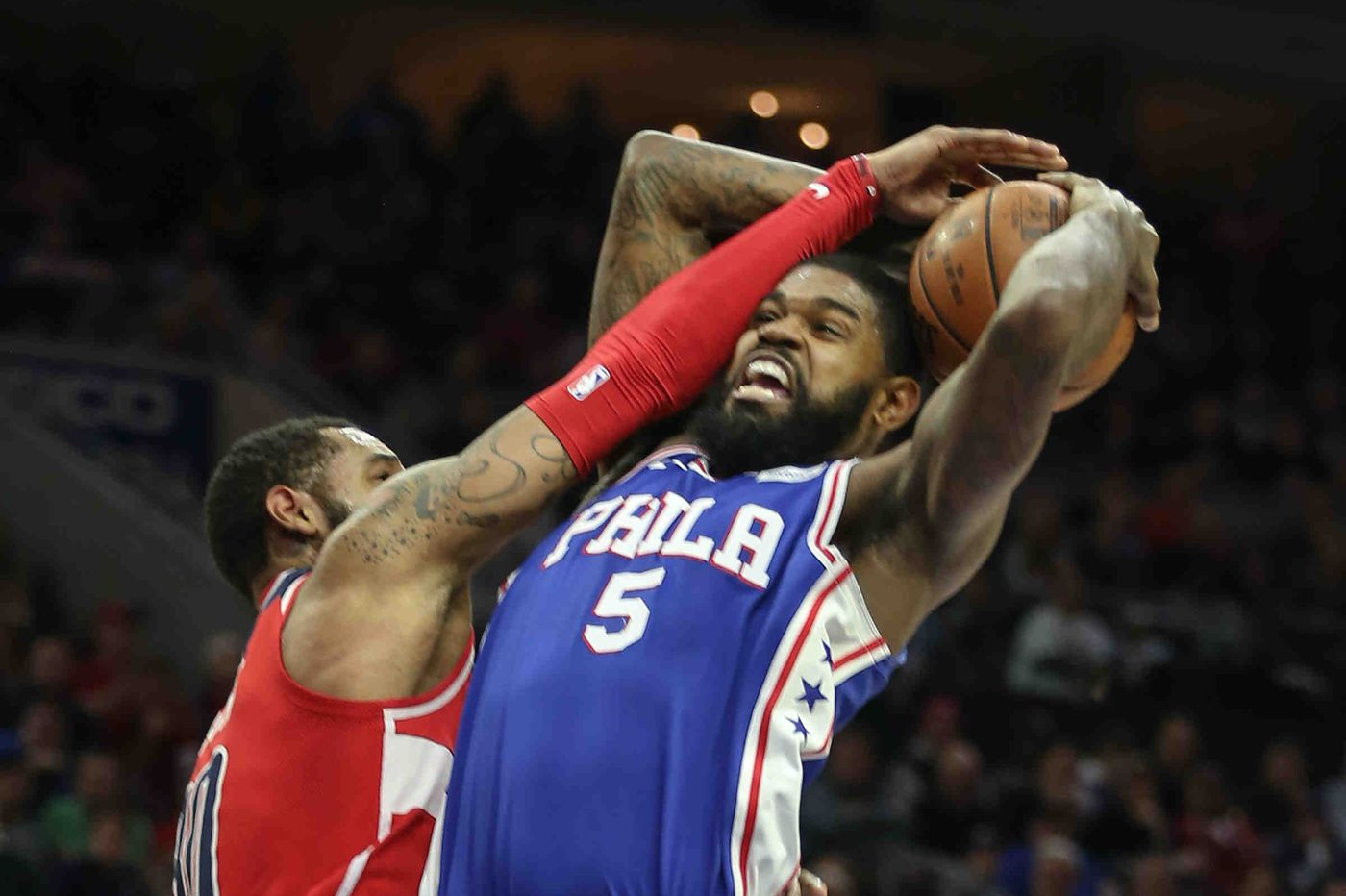 Sixers' Amir Johnson keeps positive spirit by embracing G-League playing time