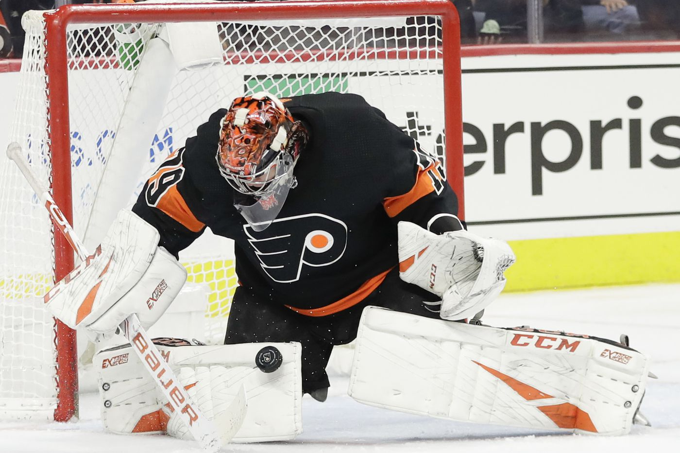 Carter Hart returning for Flyers and facing Florida Panthers and Sergei Bobrovsky on Monday