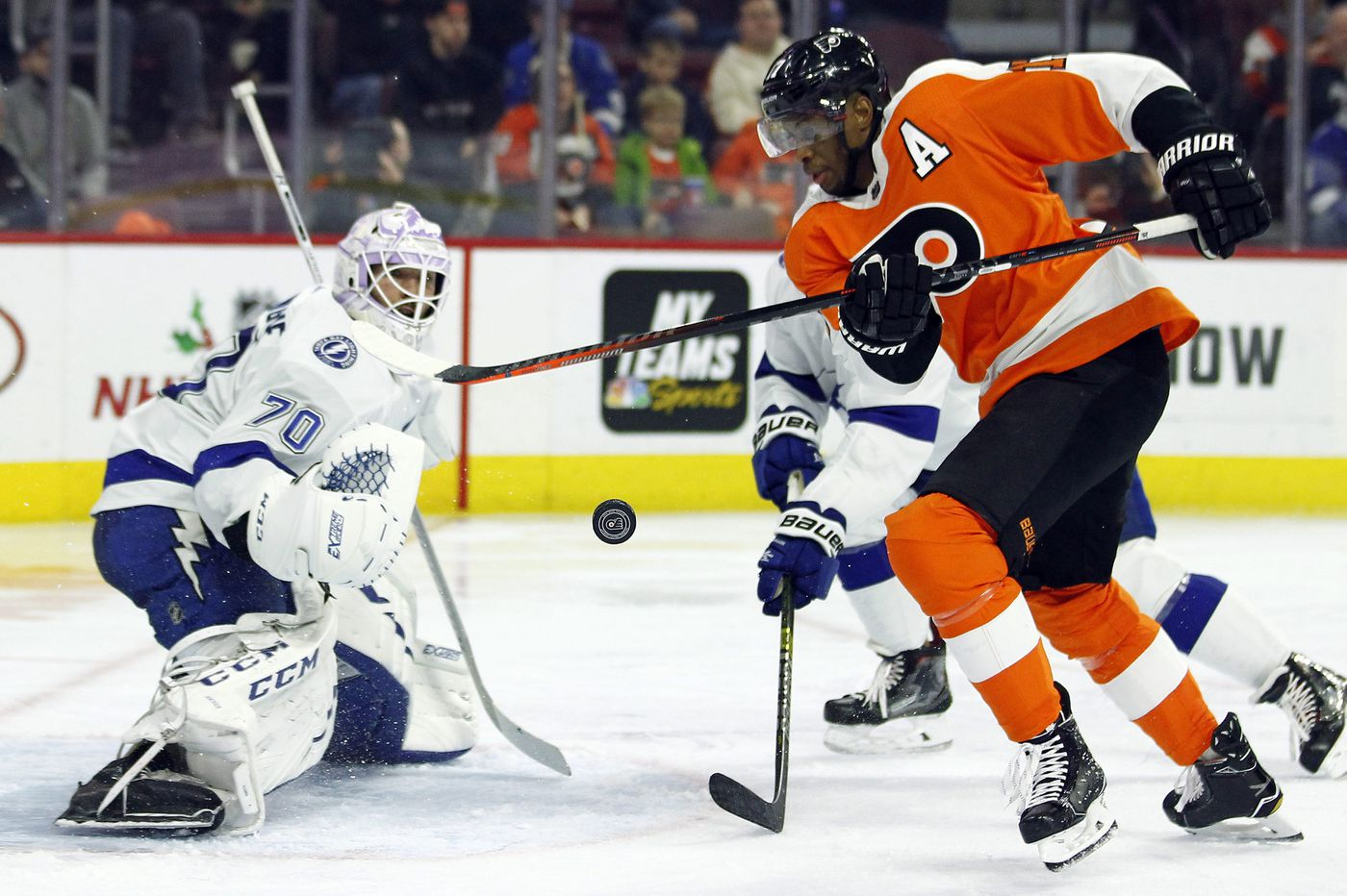 Flyers roar back but lose in OT to Tampa Bay, 6-5