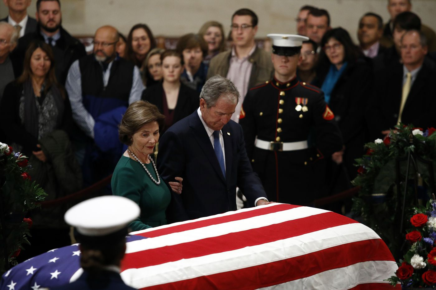 George H.W. Bush lies in state in Washington