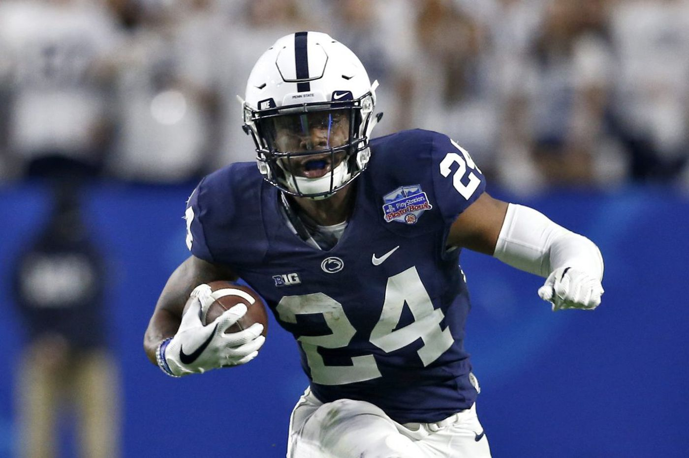 Penn State coach James Franklin sees Miles Sanders as a team leader