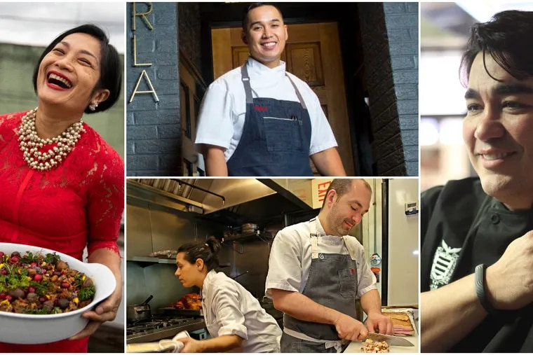 Mother's Day collage of chefs whose restaurants are inspired by their mothers and grandmothers.
