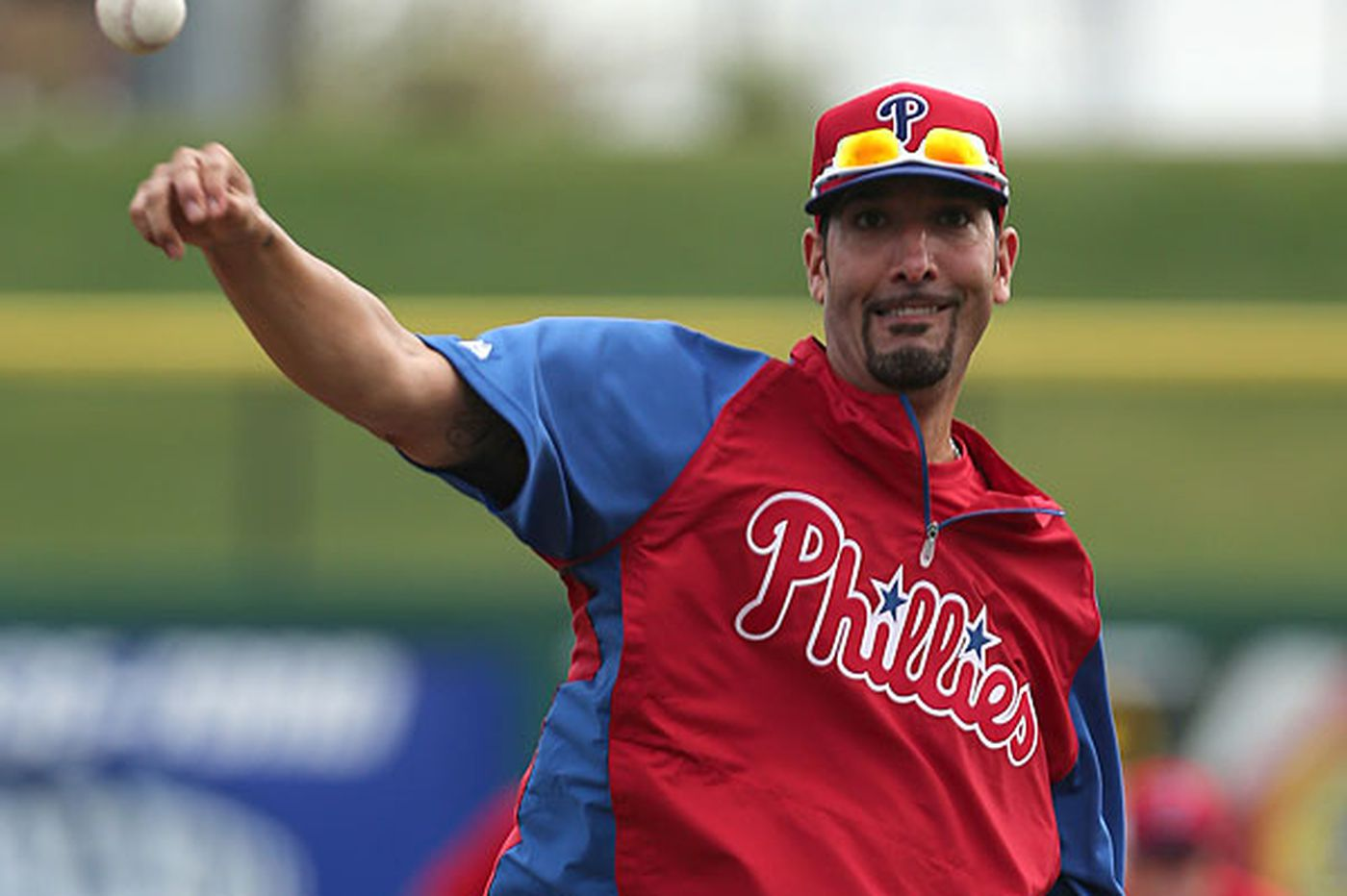 Phillies reliever Adams is pleased with early progress
