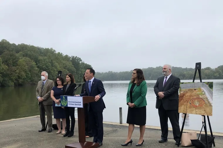 Pennsylvania Attorney General Josh Shapiro announcing 48 criminal charges against Energy Transfer LP on Tuesday, Oct. 5, 2021.