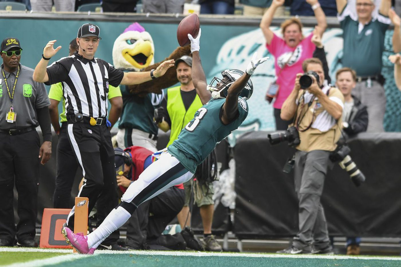 Eagles' Nelson Agholor returns to the scene of last year's low point a changed player