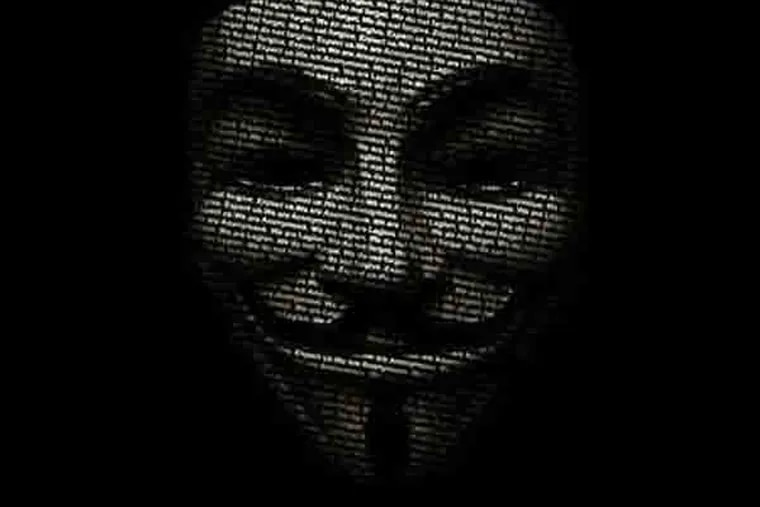 The public face of Anonymous . Image via ETECHMAG.