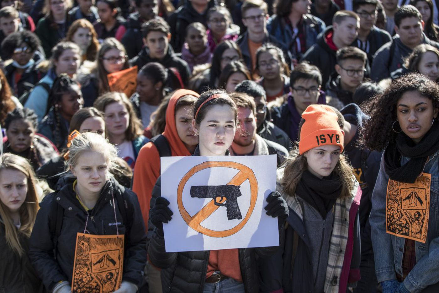 'I don't want to be shot': Thousands of Philly-area students participate in national school walkout