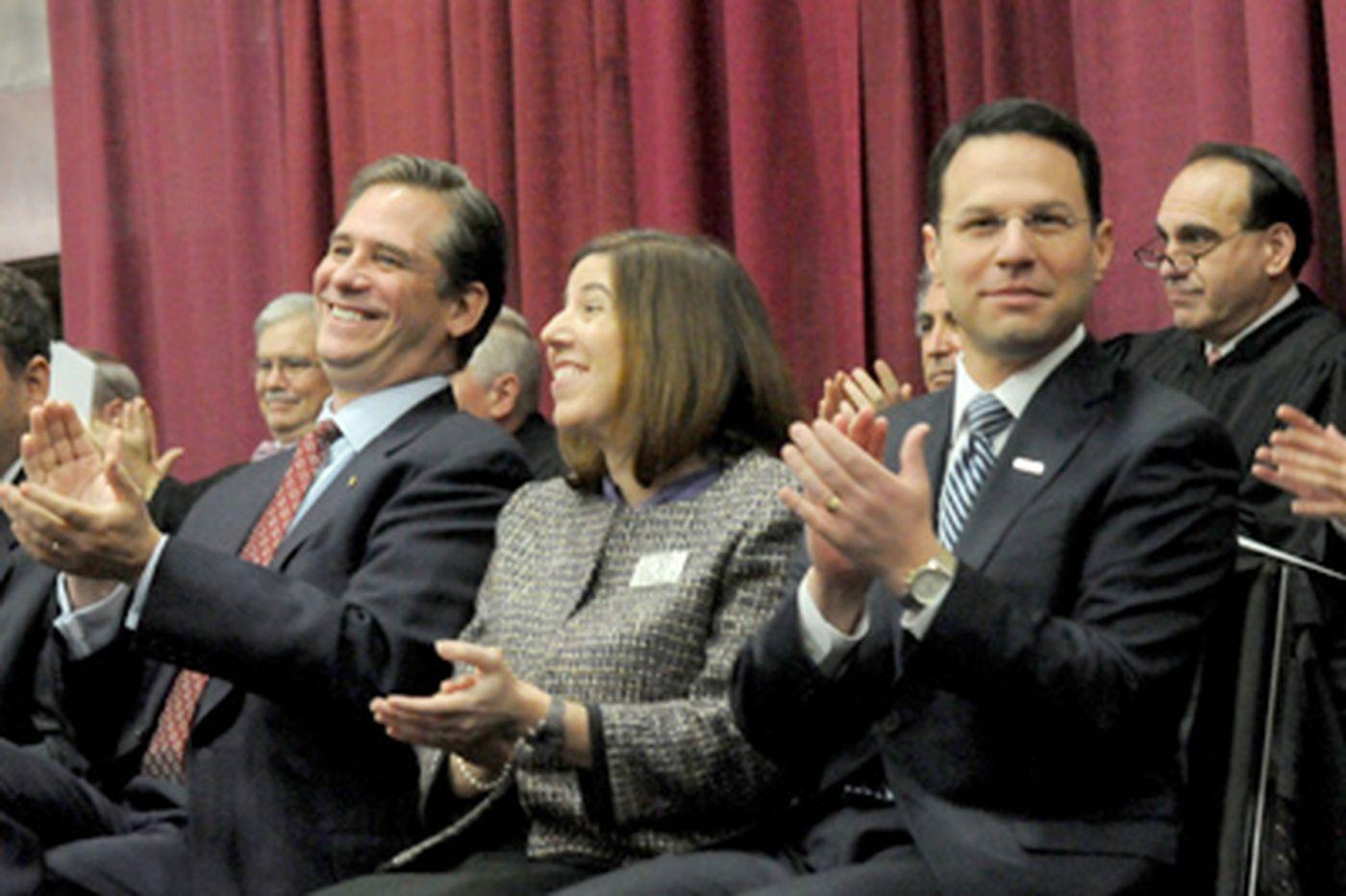 Shapiro, Richards pledge civility as first Democrats to lead Montco since 1870s