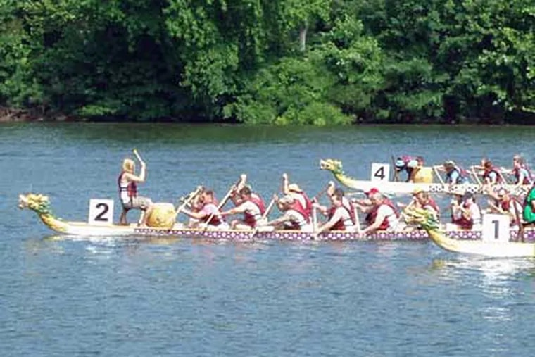 The Dragon Boat Regatta takes to the Schuylkill River on Saturday, from 8 a.m. to 5 p.m. Free.