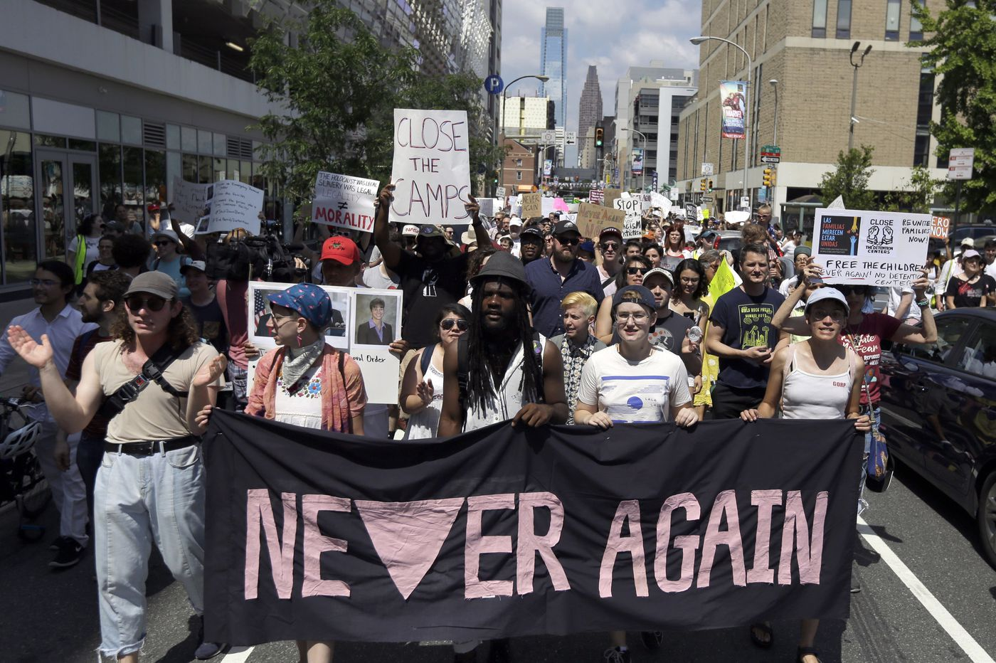 Meet the young Jews chanting 'Never again!' and blocking streets to shut down Trump's camps | Will Bunch
