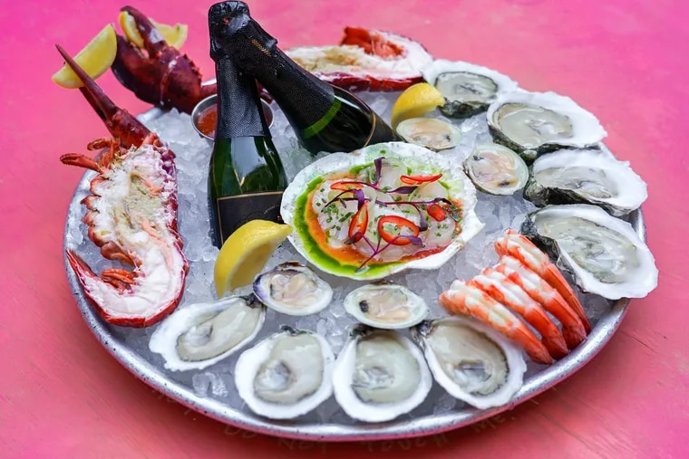 Oyster House's 'Shell-A-Bration Platter' is available for takeout on Valentine's Day.