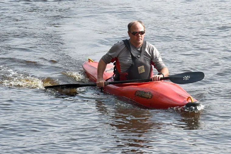 """John Anderson says he feels momentum for the effort to have about 60 miles of the Rancocas Creek designated a national water trail — he likes the term """"Blueway."""""""