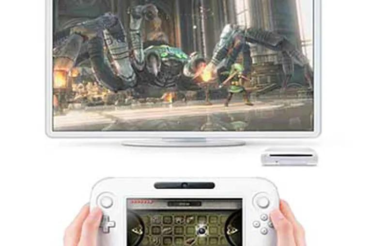 Nintendo's new console, Wii U, has a 6.2-inch screen.