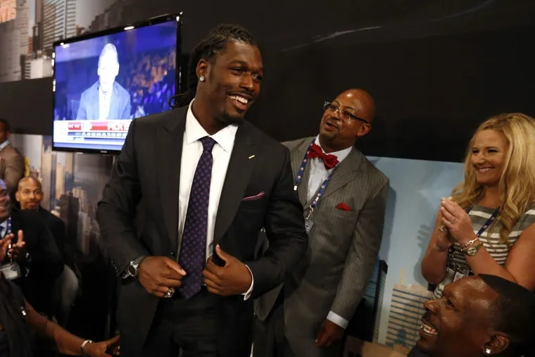 Jadeveon Clowney is all smiles after his name is called.