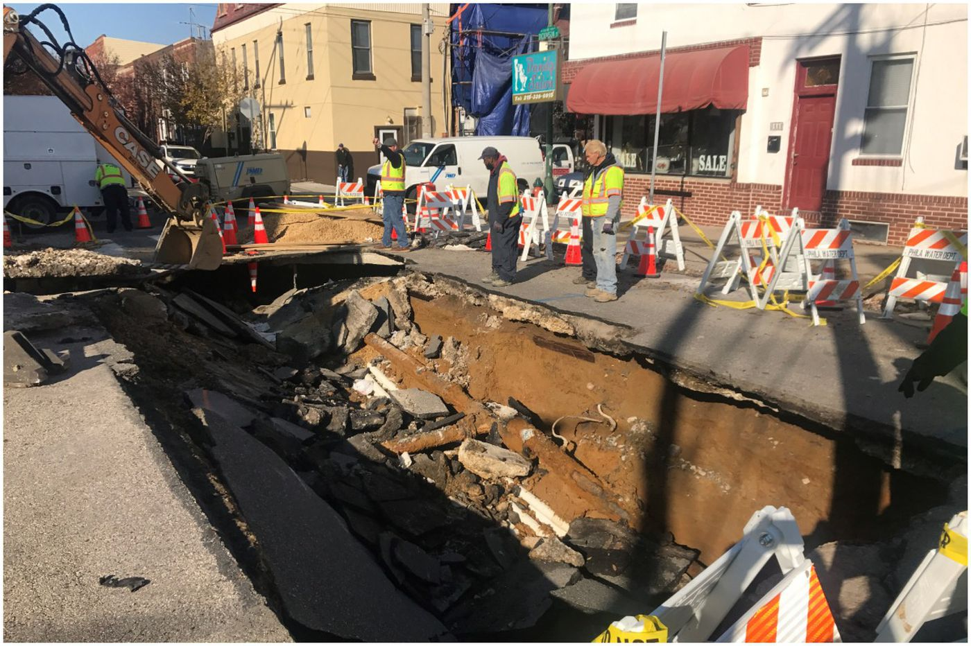 South Philly street collapses after water main break