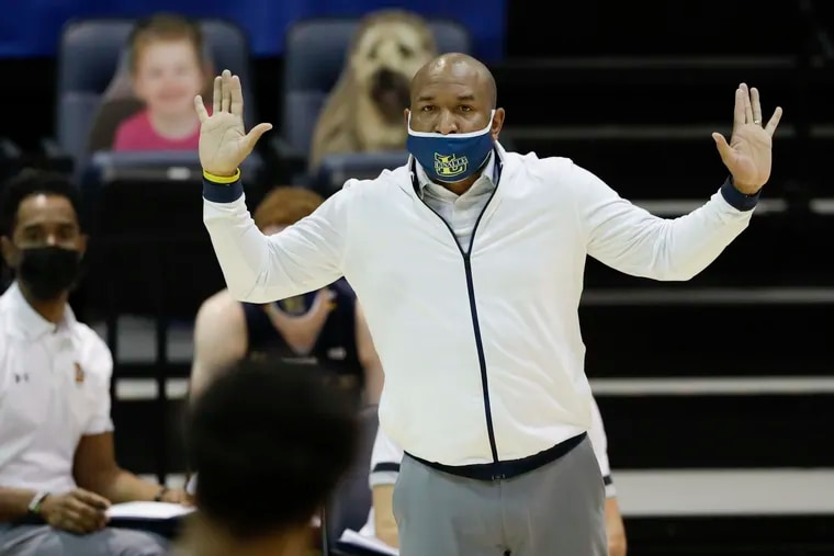 La Salle head coach Ashley Howard during Saturday's game at Drexel.