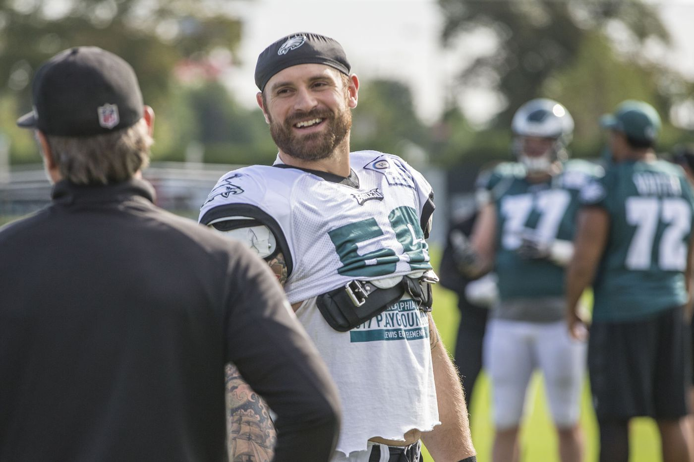 5ab9e5e200f Philanthropy or football: At which is Eagles defensive end Chris Long  better?