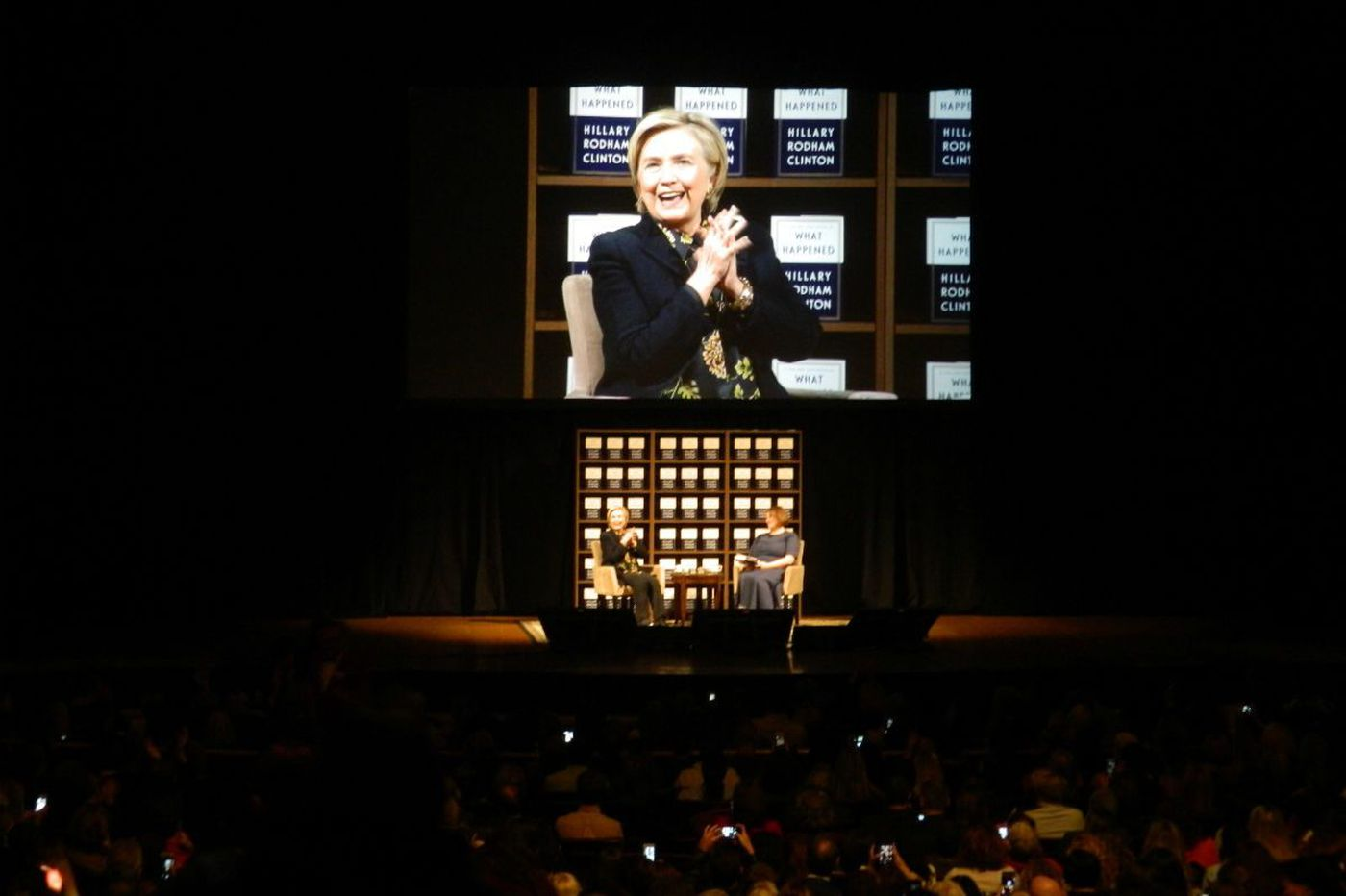 What happened when Hillary Clinton talked about 'What Happened' at the Academy of Music