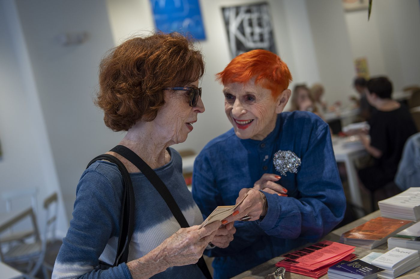 This fiery-haired Frieda's hostess is 91, has 497 brooches, and 'couldn't care less' what you think | We The People