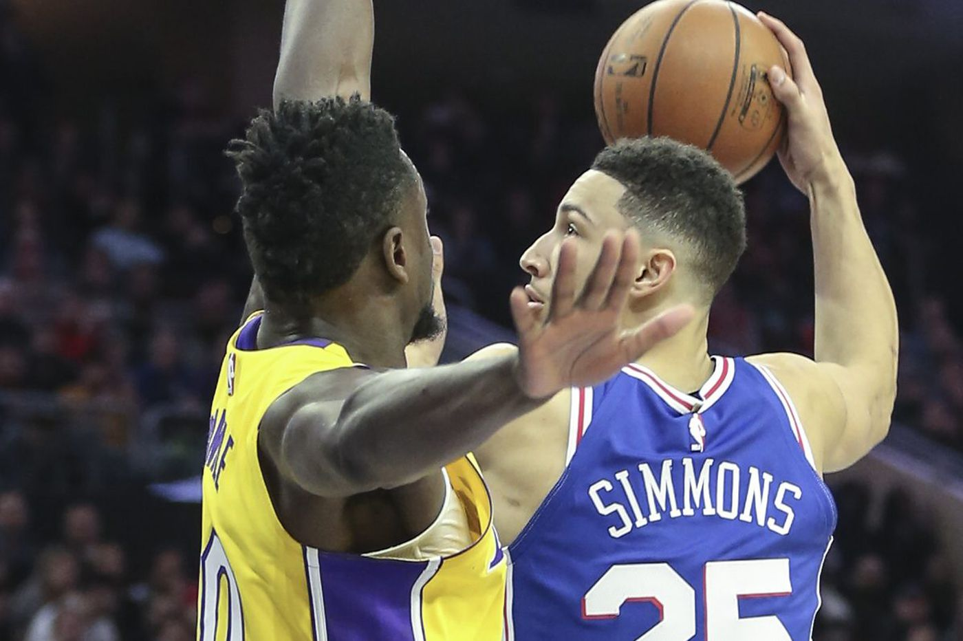 Ben Simmons' triple-double not enough as 76ers lose late to Lakers