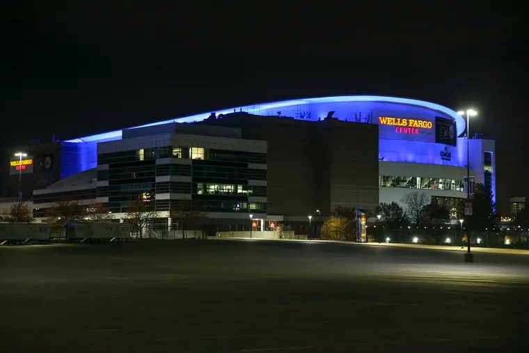 The Wells Fargo Center, home of the 76ers and Flyers.
