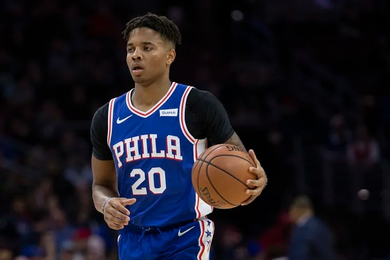 Sixers, Markell Fultz, 20, holds the ball against the Atlanta Hawks during the first quarter of the NBA game at the Wells Fargo Center in Philadelphia, Pa. Monday, October 29, 2018.