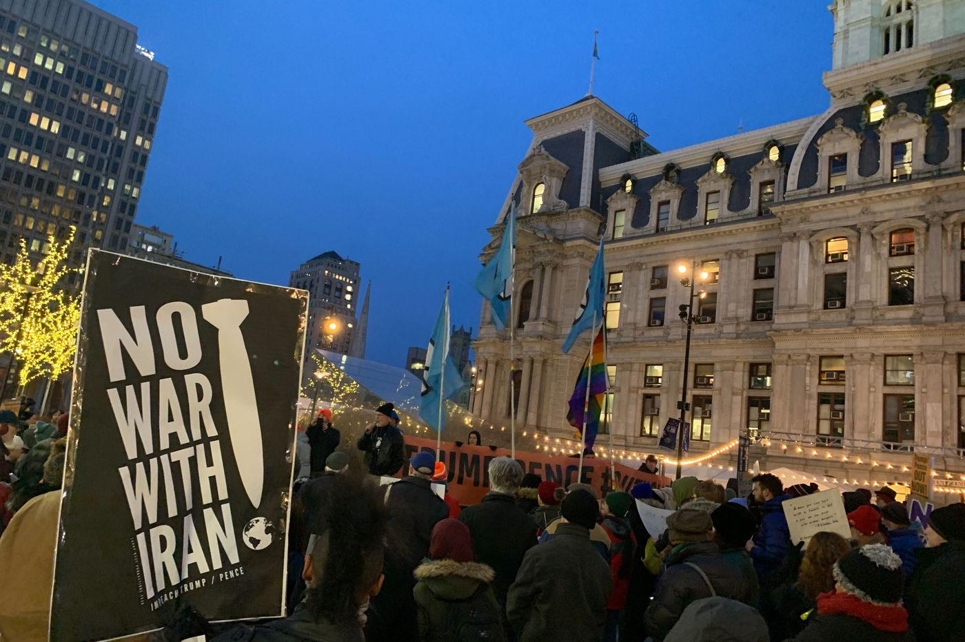 'No War With Iran' protesters march and chant through Center City