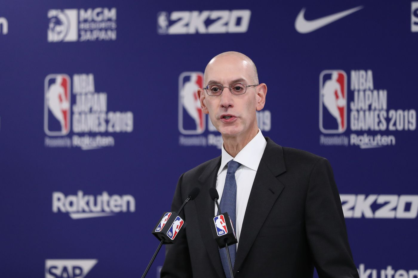 Commissioner Adam Silver relays there's no timetable for NBA return