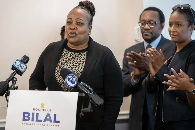 Philadelphia Sheriff Rochelle Bilal (left), at a November 2019 event announcing her transition team, has been named in a whistle-blower lawsuit filed by Sommer Miller (right) who had served as Bilal's undersheriff and chief legal officer.